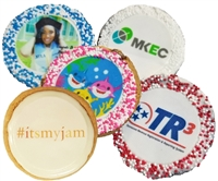 2.5 inch Round Photo/Logo Cookies, dozen