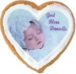 "3"" Heart Photo/Logo Cookies, dozen"