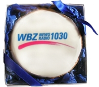 "3.5"" Round Logo Cookies, Individually Gift Boxed, each"