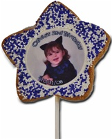 "3"" Star Photo/Logo Cookie Pop, dozen"