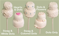 Cake Pops - Wedding Cake, each