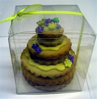 3 Tier Mini Hand Decorated Cookie Cake