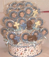 3 Tiered Baptism Centerpiece